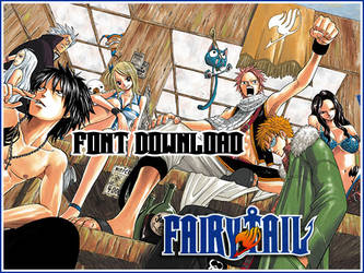 Fairy Tail Font Download by shifustock