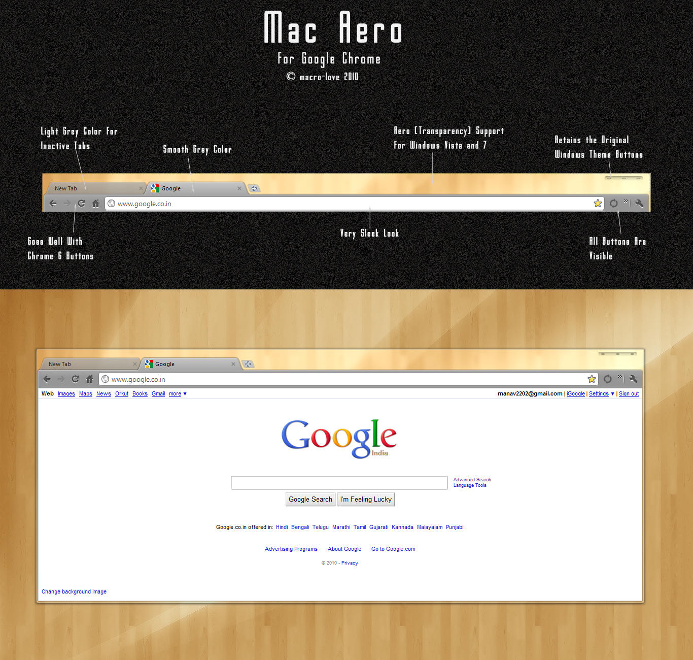Mac Aero For Google Chrome by mACrO-lOvE