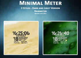 MINIMAL METER for RAINMETER by mACrO-lOvE