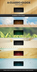 A-Classic-Clock for RAINMETER by mACrO-lOvE