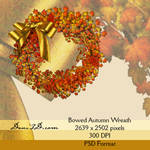 Bowed Autumn Wreath