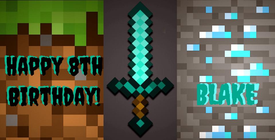 birthday card minecraft/ blake by majestyevol on deviantart, Birthday card