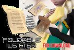 Foldable Letter/Paper- with bones [DL]