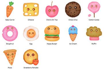 Happy Food Mac OS Icons