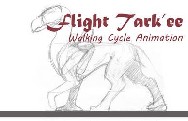 Flight Tark'ee Walk Cycle [ animation ] by ClarityWind