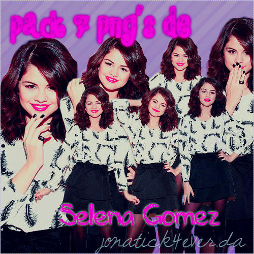 Pack 7 png's Selena Gomez en ZIP by jonatick4ever