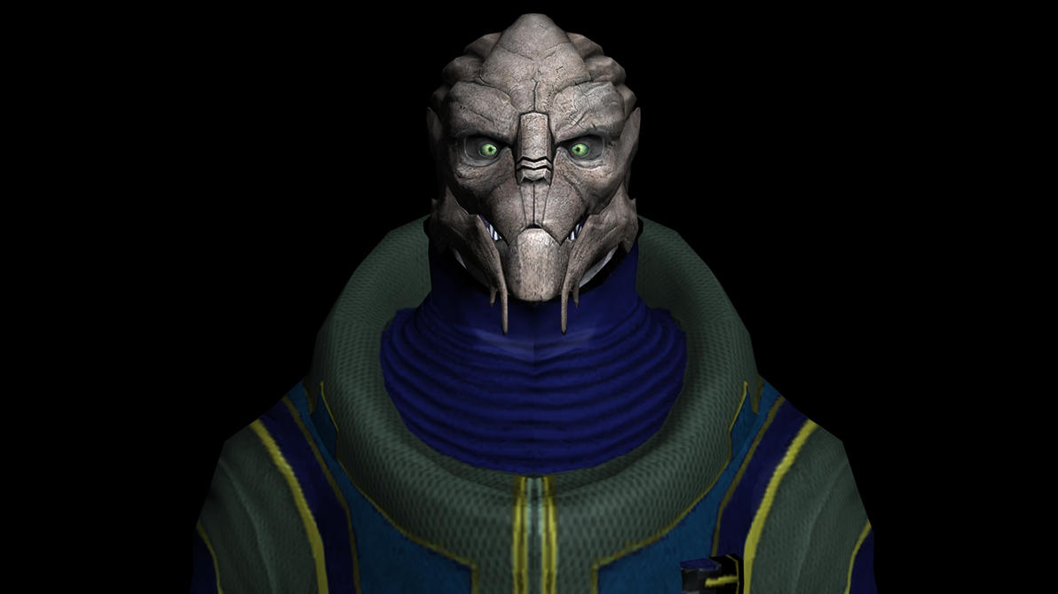 Turian Head, Clothes Reference by Lordess-Alicia
