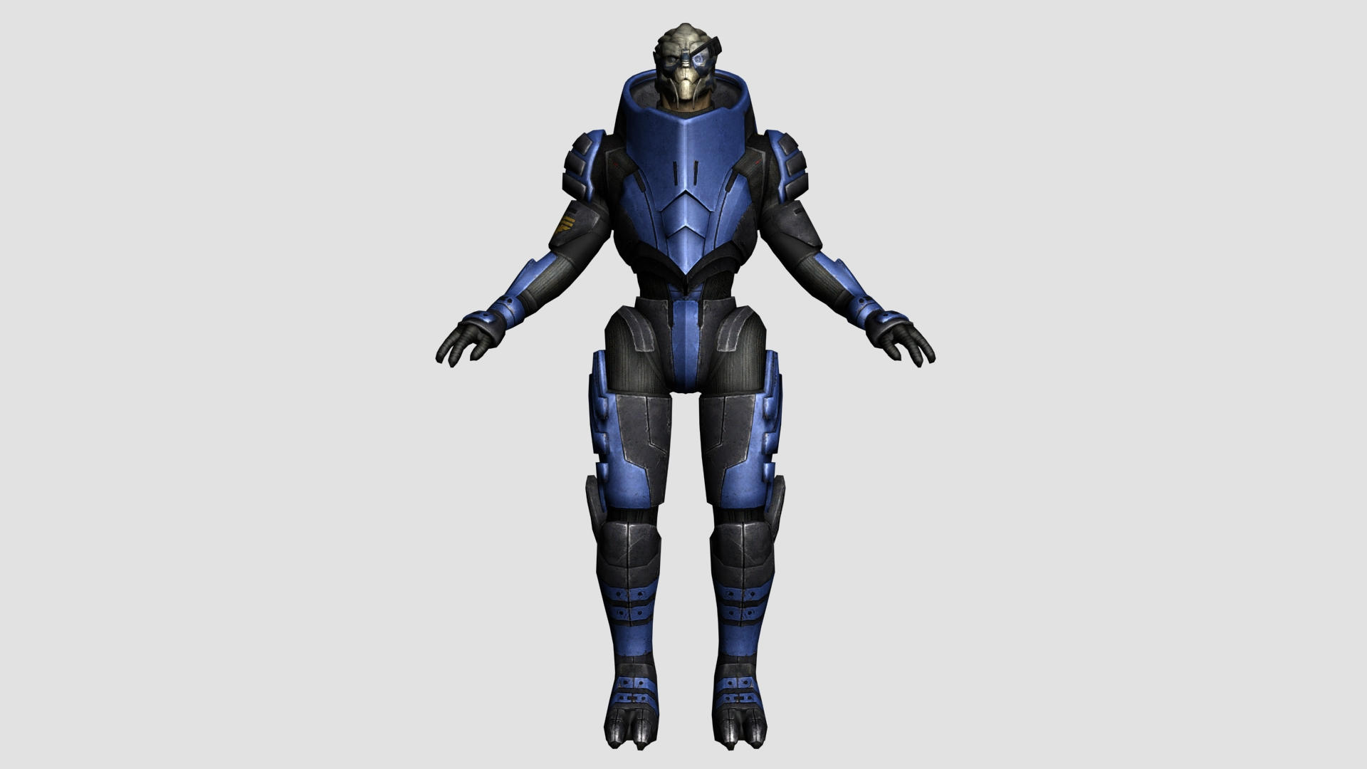 Garrus Vakarian Body Reference by Lordess-Alicia