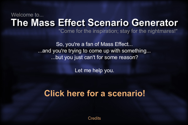 Mass Effect Scenario Generator by ImperatorAlicia on DeviantArt