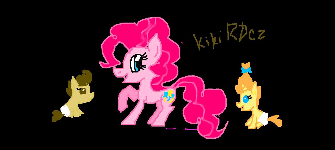 Pinkie Pie, Pound Cake and Pumpkin Cake by KikiRDCZ