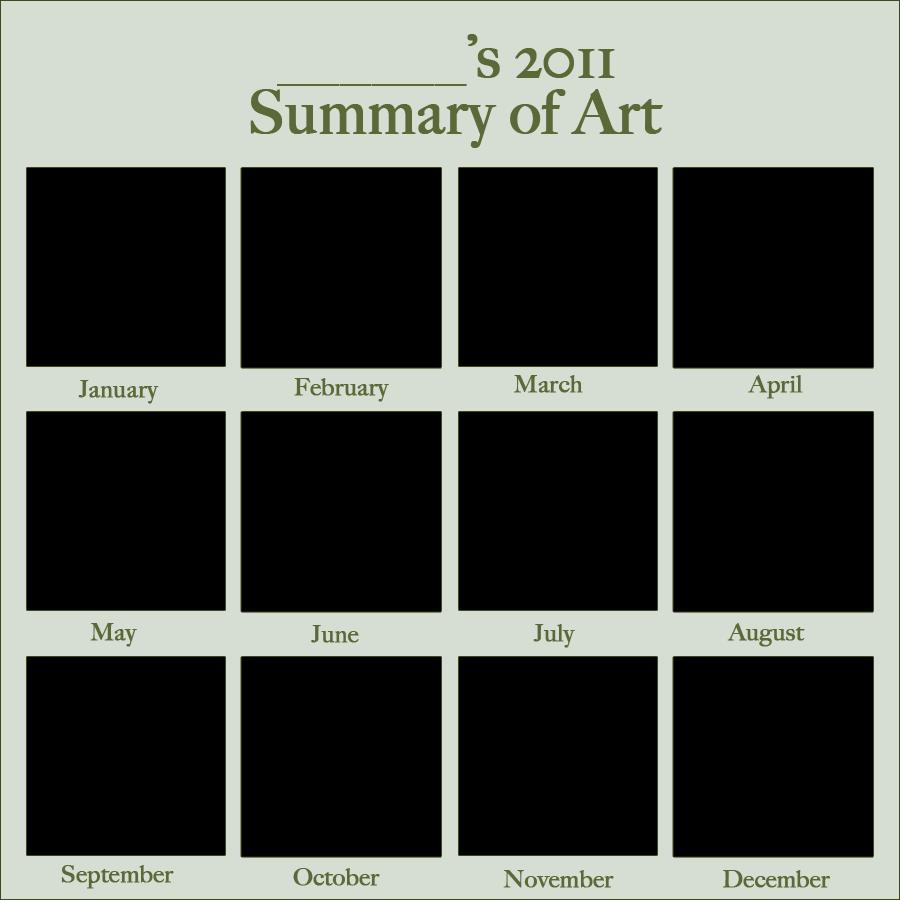 2011 Art Summary Meme BLANK