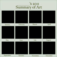 2011 Art Summary Meme BLANK by DustBunnyThumper