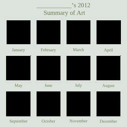 2012 Art Summary BLANK by DustBunnyThumper
