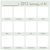 2013 Art Summary BLANK by DustBunnyThumper