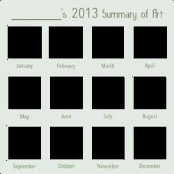 2013 Art Summary BLANK