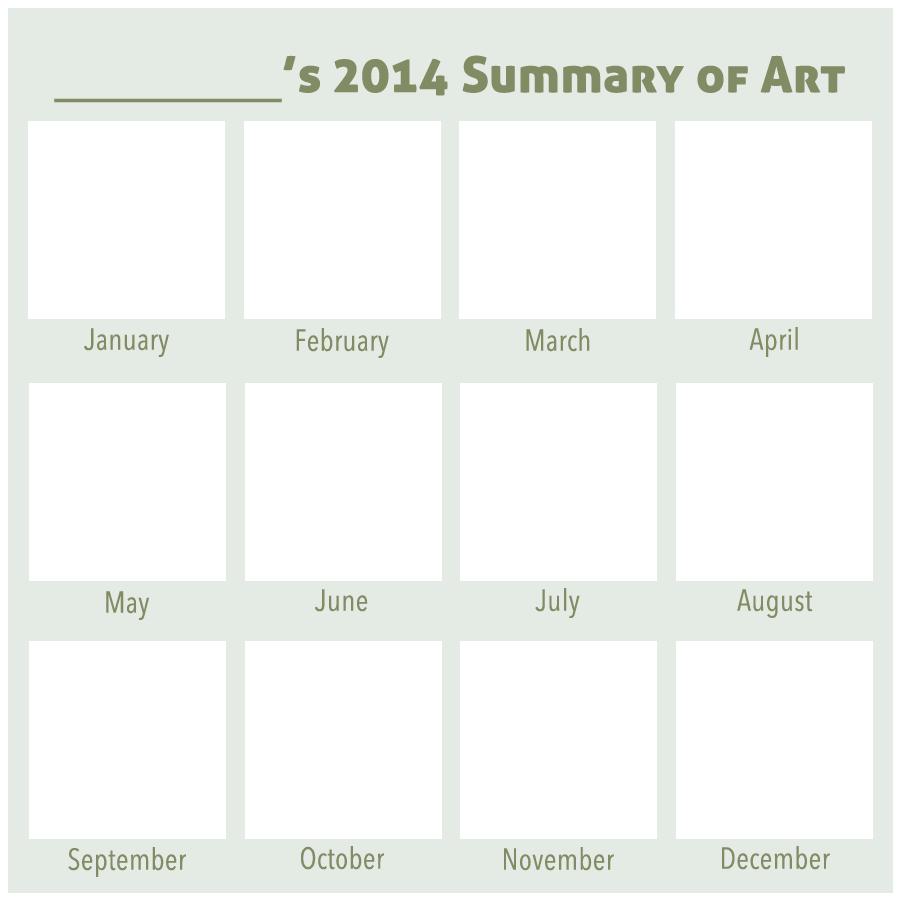 2014 Summary of Art BLANK