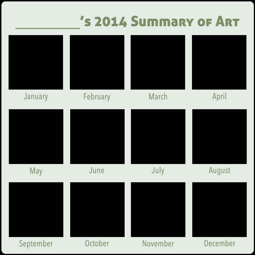 2014 Summary of Art BLANK by DustBunnyThumper