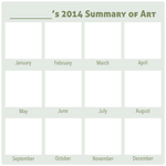 2014 Summary of Art BLANK