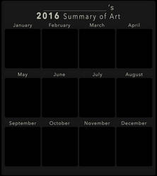 2016 Summary of Art BLANK