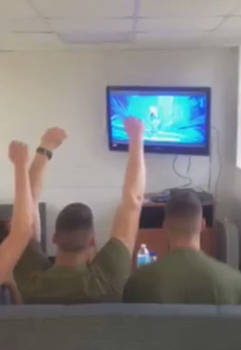 What Marines Do When They Watch Frozen *GIF*