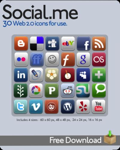 social web 2.0 icons