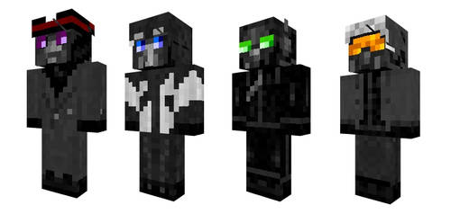 Romantically Apocalyptic Minecraft Skins by carpenocturne
