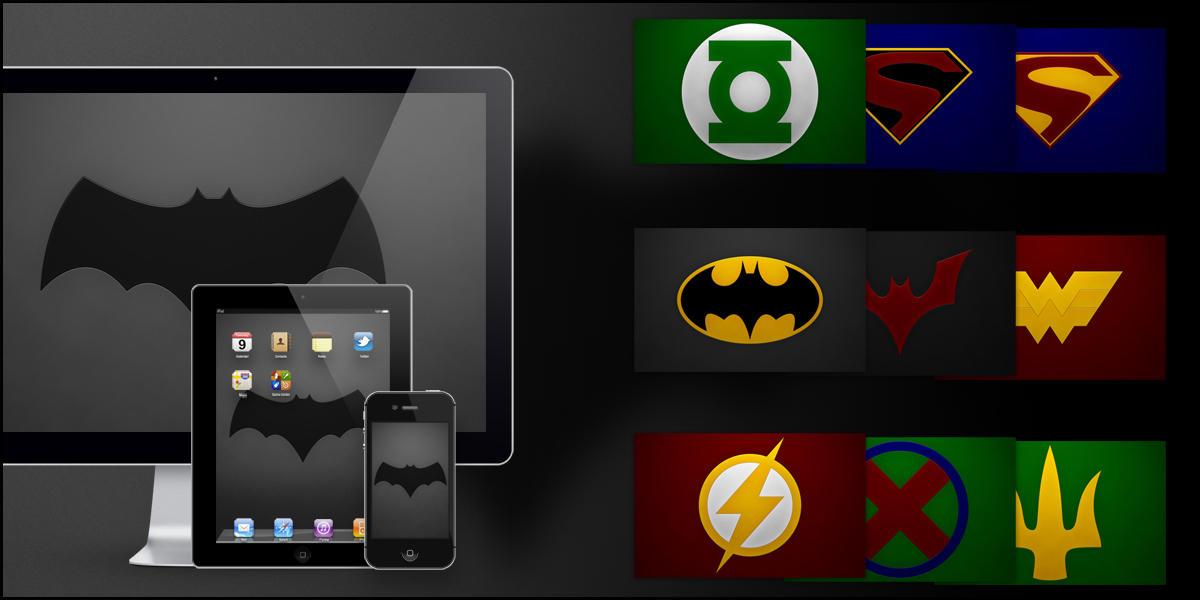 Justice League Emblems The Justice League by Kornum
