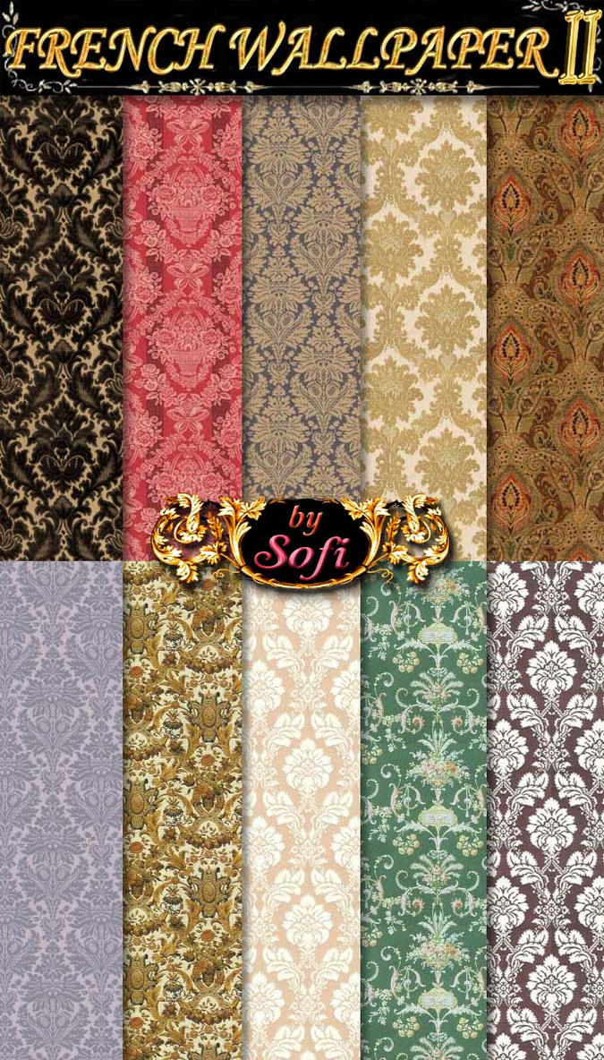French Wallpaper Patterns 2 by sofi01