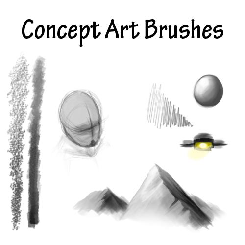 Concept Art Brushes by Evil-Eagle