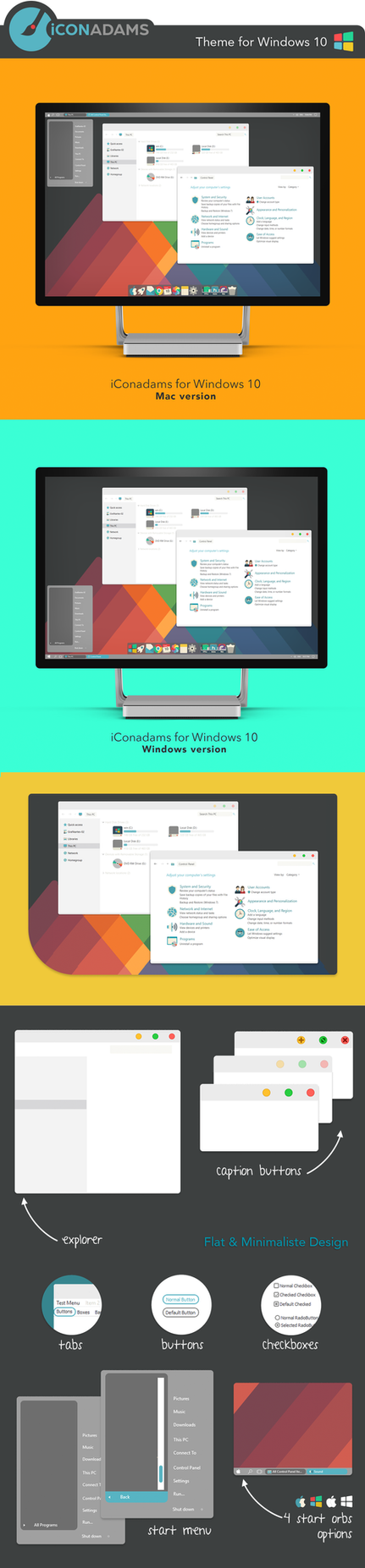 FREE iConadams Theme for Windows 10 by valvator