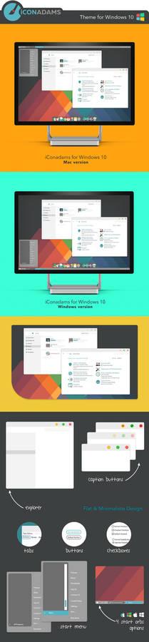 FREE iConadams Theme for Windows 10
