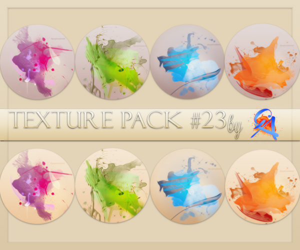 Texture Pack #23 by GA - Watercolor by GraphicAddicted
