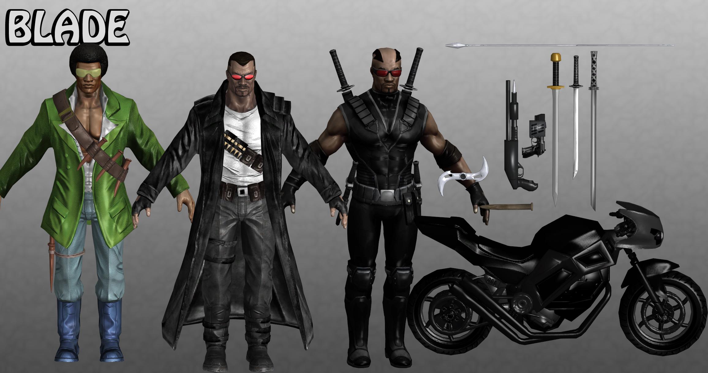 Blade Marvel Heroes XNALara by Xelandis on DeviantArt