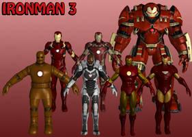 Ironman Marvel Heroes XNALara 3 by Xelandis