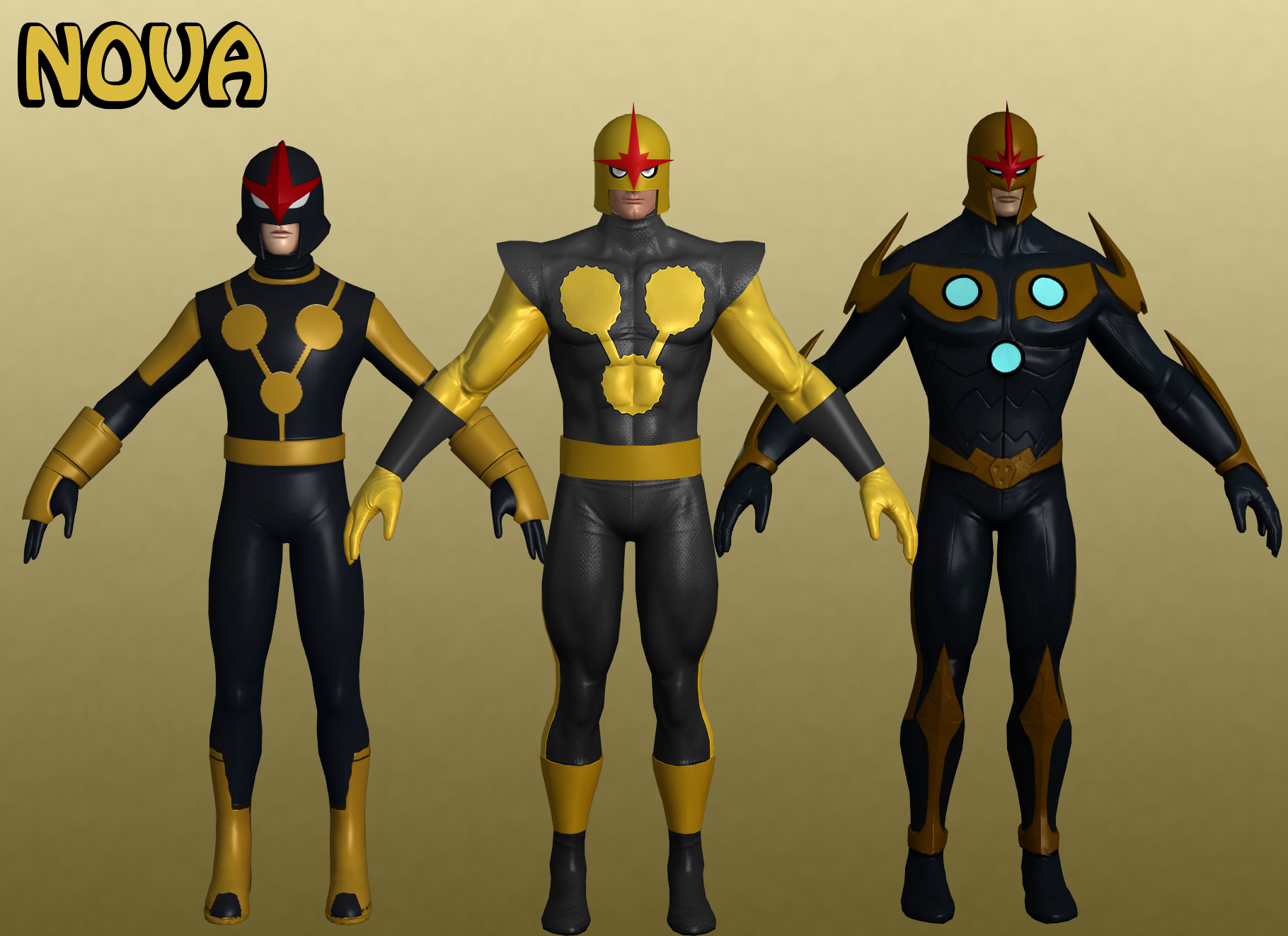 Nova Marvel Heroes XNALara by Xelandis on DeviantArt