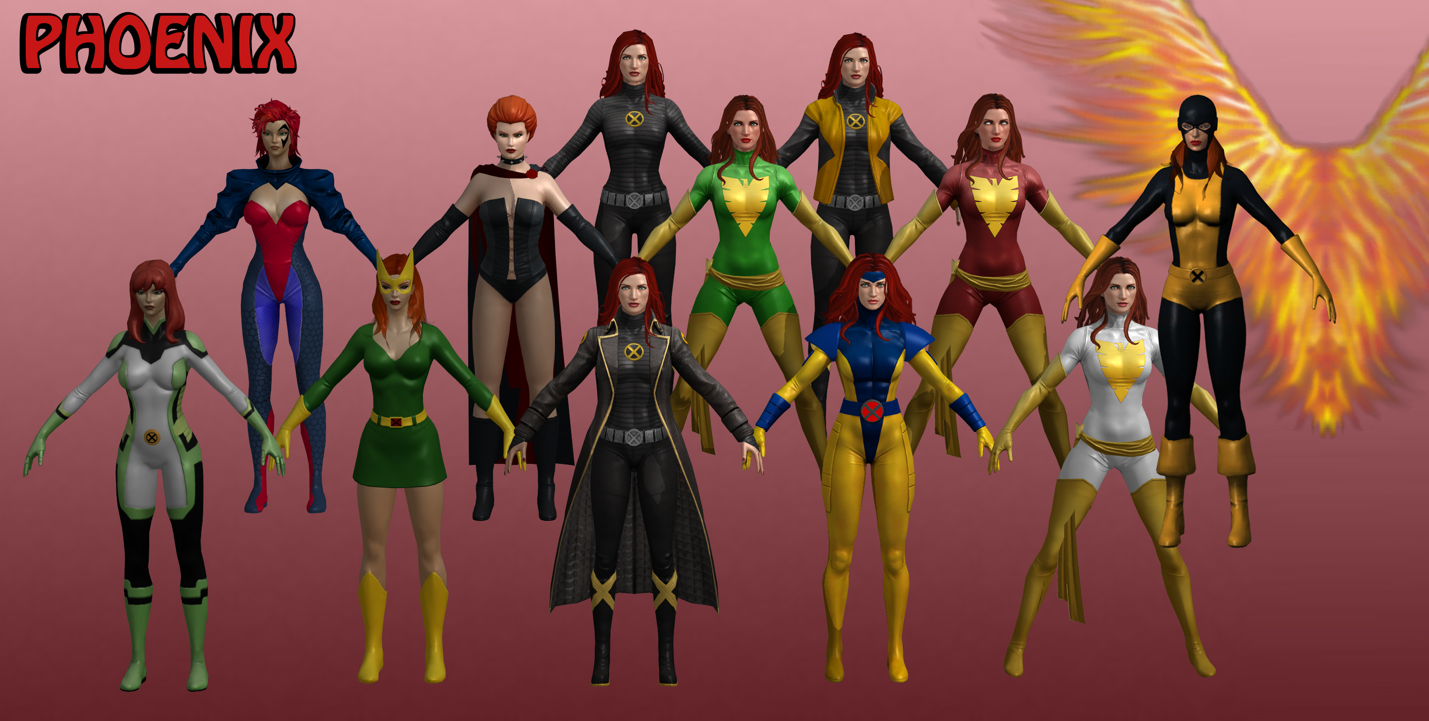 Phoenix Marvel Heroes XNALara by Xelandis on DeviantArt
