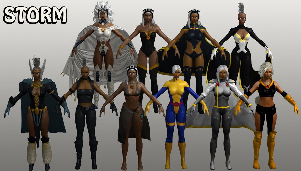 Storm Marvel Heroes XNALara By Xelandis