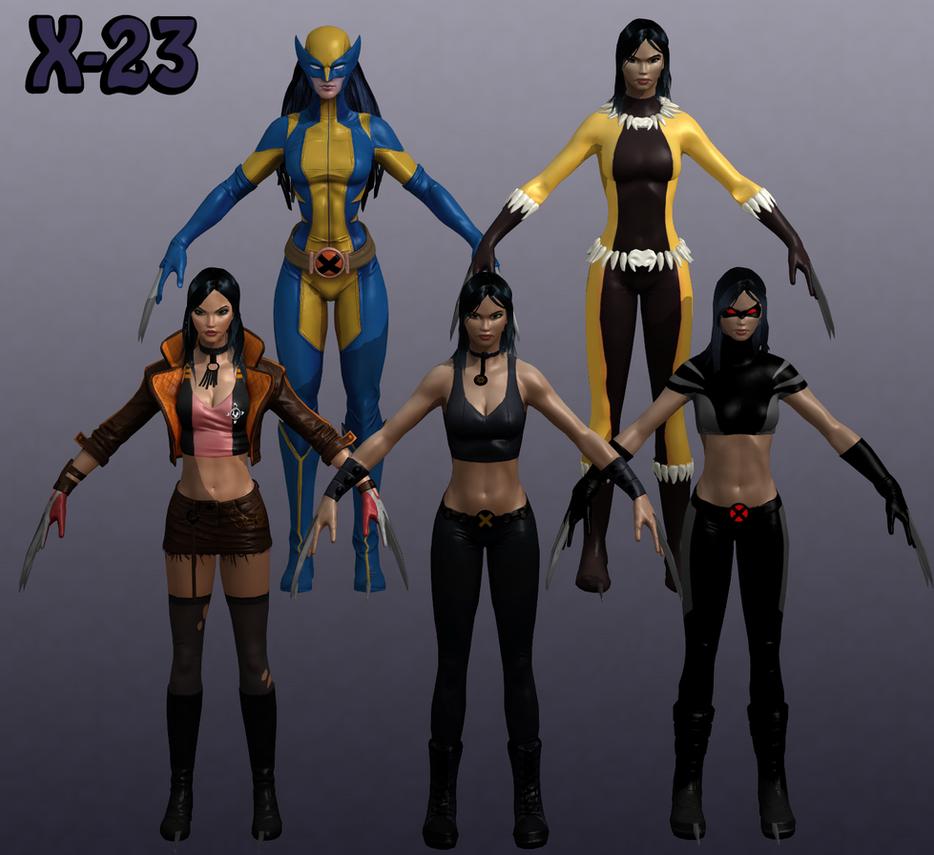 X 23 Marvel X-23 Marvel Heroes XNA...