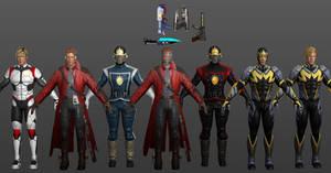 Starlord Pack Marvel Heroes XNALara by Xelandis