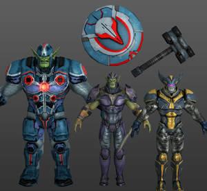 Skrull Elite Pack Marvel Heroes XNALara