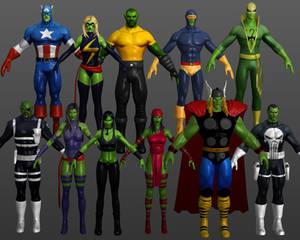 Skrull Pack Marvel Heroes XNALara