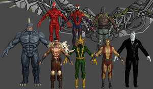 Spiderman Villain VU Pack Marvel Heroes XNALara