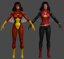 Spiderwoman VU Pack Marvel Heroes XNALara by Xelandis
