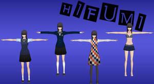 Persona 5: Hifumi Pack XNALara (Update 1) by Xelandis