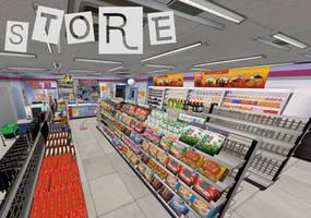 Persona 5: Convenience Store XNALara by Xelandis