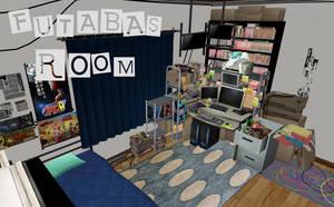 Persona 5: Futaba's Room XNALara by Xelandis