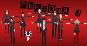 Persona 5: Persona 3 Pack XNALara by Xelandis