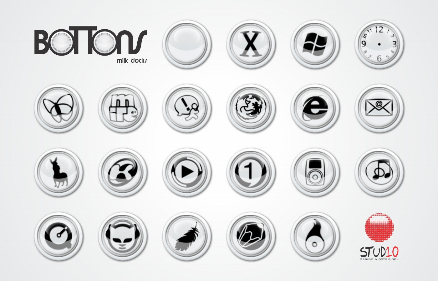 boTTons Milk Docks by Evoluticons