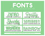 +FONTS PACK RECOMMENDATION #002