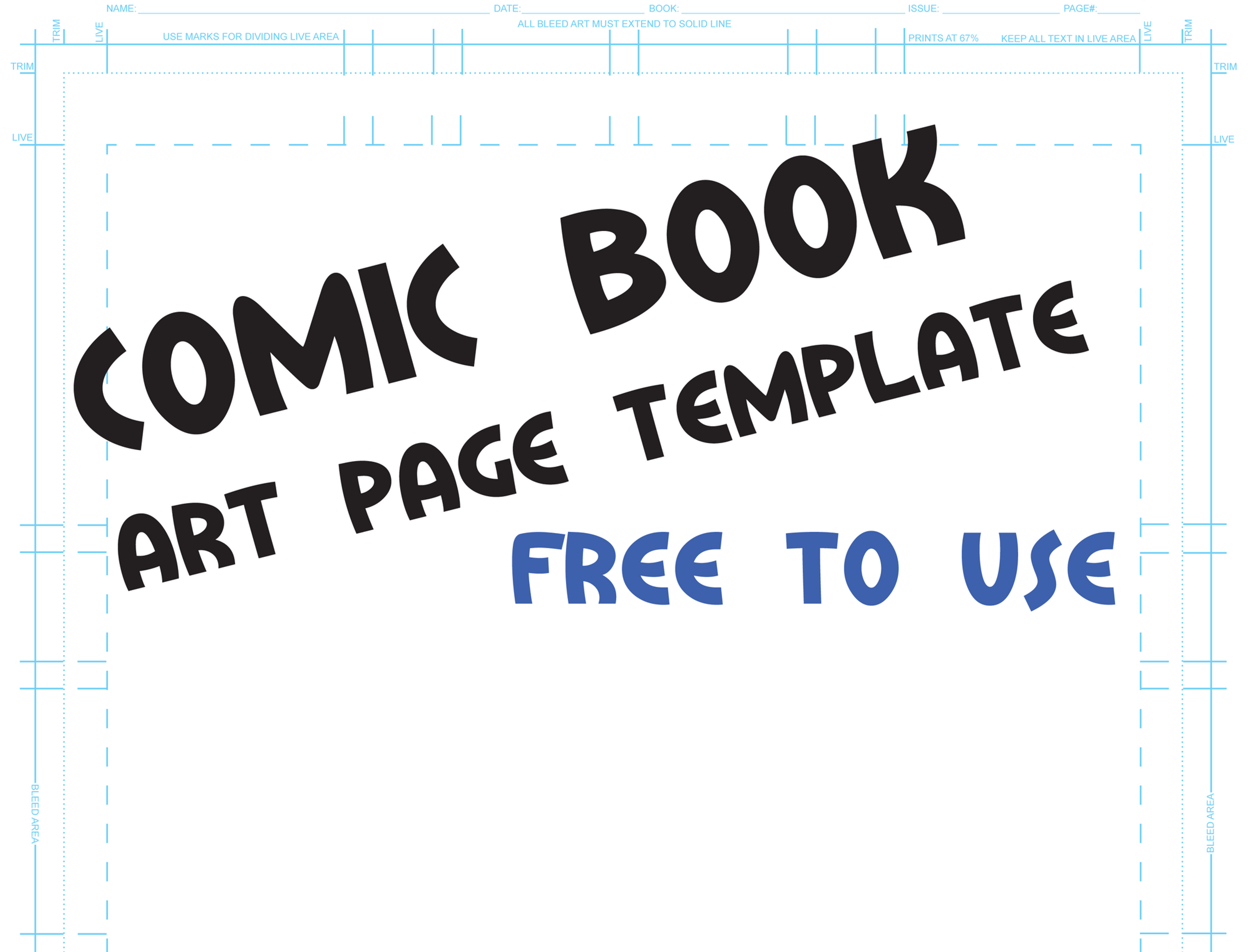 Comic Book Template By QuestingRaven
